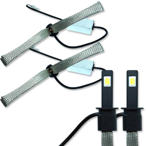 Par Lâmpada Super Led 6400 Lumens 12V 24V H1 Manta Flex 6000K - BEST SALE SHOP