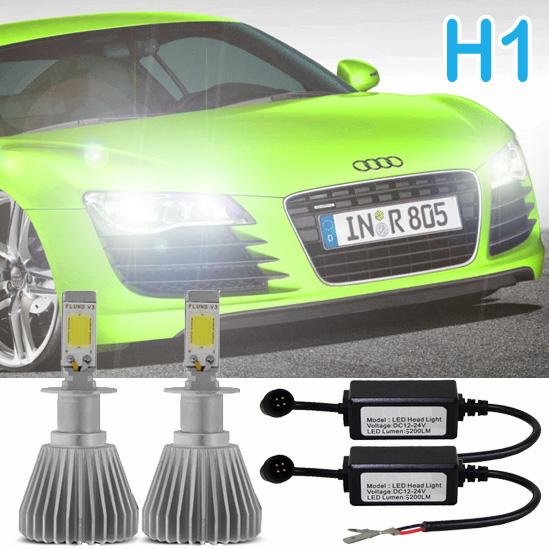 Par Lâmpada Super Led 6400 Lumens 12V 24V H1 6000K  - BEST SALE SHOP