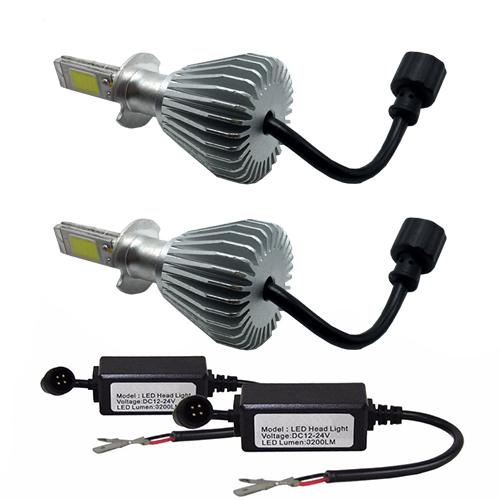 Par Lâmpada Super Led 6400 Lumens 12V 24V H1+H1+H3 6000K  - BEST SALE SHOP