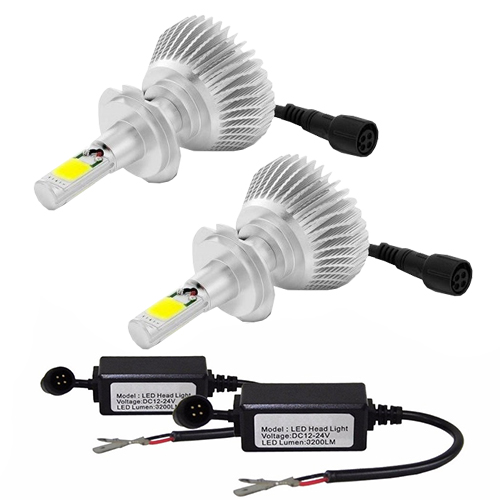 Par Lâmpada Super Led 6400 Lumens 12V 24V H1+H7+H8 6000K  - BEST SALE SHOP