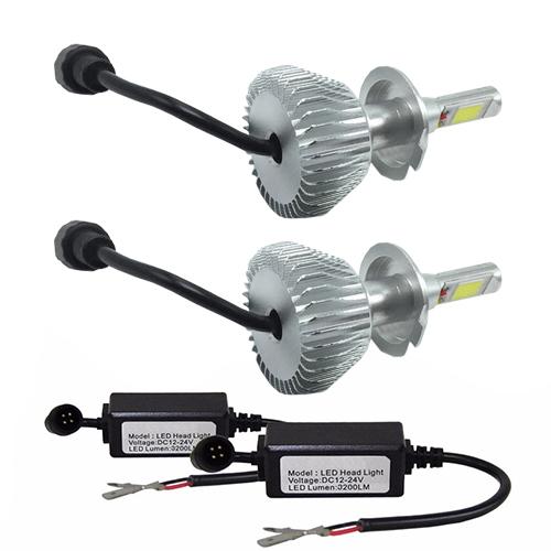 Par Lâmpada Super Led 6400 Lumens 12V 24V H7+H7 6000K  - BEST SALE SHOP
