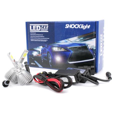 Par Lâmpada Super Led 4400 Lumens 12V 24V 32W Shocklight H1 6000K  - BEST SALE SHOP