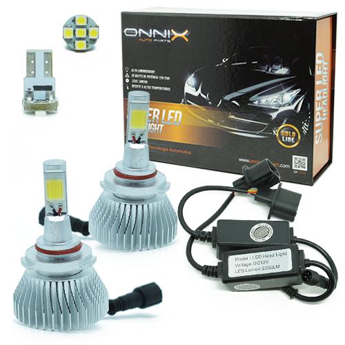 Par Lâmpada Super Led 4400 Lumens 12V 24V 35W Onnix HB3 6000K  - BEST SALE SHOP
