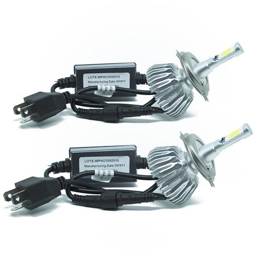 Par Lâmpada Super Led 6000 Lumens 12V 24V 40W Importway H4 (Bi) 6000K  - BEST SALE SHOP