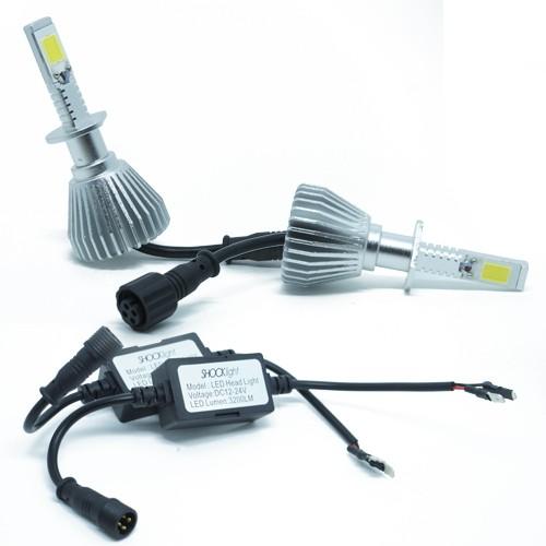 Par Lâmpada Super Led 6400 Lumens 12V 24V 35W Shocklight H1 6000K  - BEST SALE SHOP