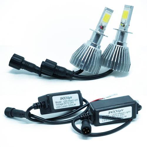 Par Lâmpada Super Led 6400 Lumens 12V 24V 35W Shocklight H3 6000K  - BEST SALE SHOP