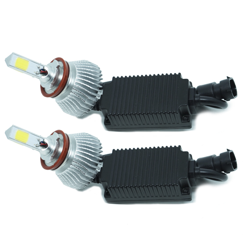 Par Lâmpada Super Led 9000 Lumens 12V 24V 50W Shocklight Power Led 3D H11 6000K  - BEST SALE SHOP