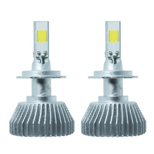 Par Lâmpada Super Led 9000 Lumens 12V 24V 50W Shocklight Power Led 3D H7 6000K  - BEST SALE SHOP