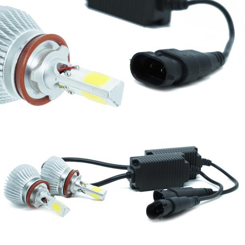 Par Lâmpada Super Led 9000 Lumens 12V 24V 50W Shocklight Power Led 3D H8 6000K  - BEST SALE SHOP