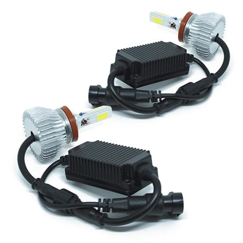 Par Lâmpada Super Led 7400 Lumens 12V 24V 3D H11 6000K  - BEST SALE SHOP