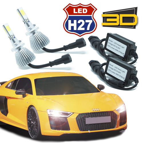 Par Lâmpada Super Led 7400 Lumens 12V 24V 3D H27 6000K - BEST SALE SHOP