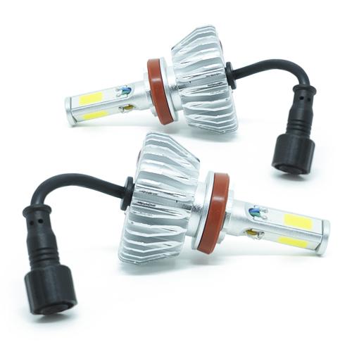 Par Lâmpada Super Led 8000 Lumens 12V 24V 3D H11 6000K  - BEST SALE SHOP