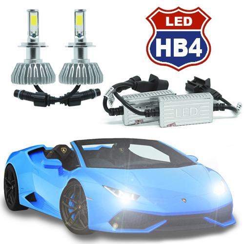 Par Lâmpada Super Led 8000 Lumens 12V 24V 3D HB4 9006 6000K  - BEST SALE SHOP
