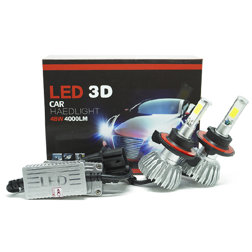 Par Lâmpada Super Led 8000 Lumens 12V 24V 48W Seven Parts 3D H13 (Bi) 6000K  - BEST SALE SHOP