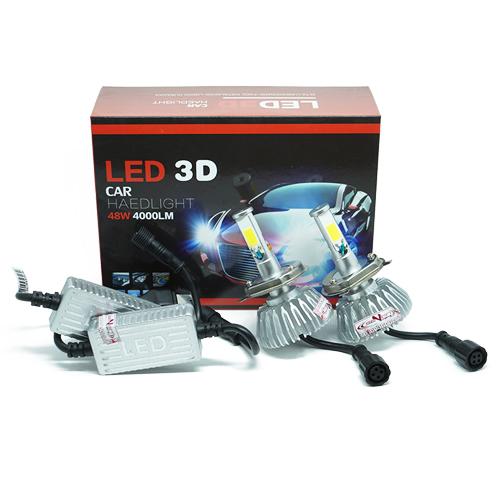 Par Lâmpada Super Led 8000 Lumens 12V 24V 48W Seven Parts 3D H4 (Bi) 6000K  - BEST SALE SHOP