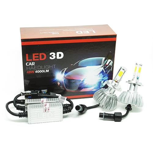 Par Lâmpada Super Led 8000 Lumens 12V 24V 48W Seven Parts 3D H7 6000K  - BEST SALE SHOP