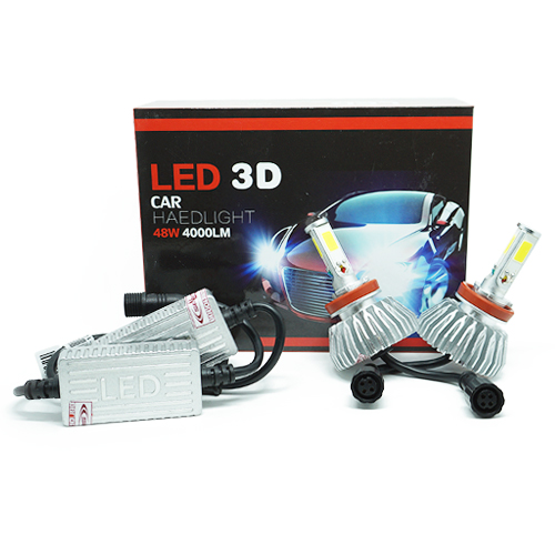 Par Lâmpada Super Led 8000 Lumens 12V 24V 48W Seven Parts 3D H8 6000K  - BEST SALE SHOP