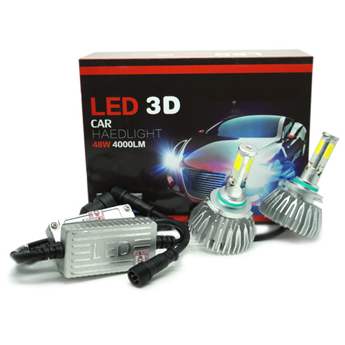Par Lâmpada Super Led 8000 Lumens 12V 24V 48W Seven Parts 3D HB3 9005 6000K  - BEST SALE SHOP