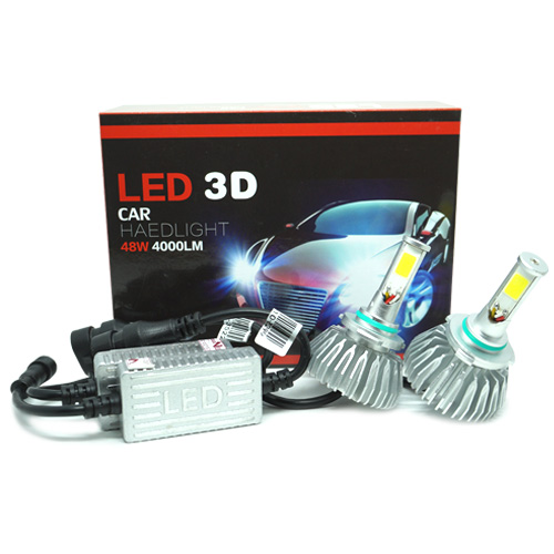 Par Lâmpada Super Led 8000 Lumens 12V 24V 48W Seven Parts 3D HB4 9006 6000K  - BEST SALE SHOP