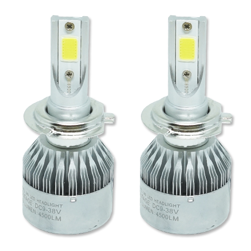 Par Lâmpada Super Led 9000 Lumens 12V 24V H7 6000K  - BEST SALE SHOP