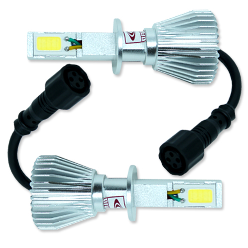 Par Lâmpada Super Led com Canceller 6400 Lumens 12V 24V 32W Seven Parts H3 6000K  - BEST SALE SHOP