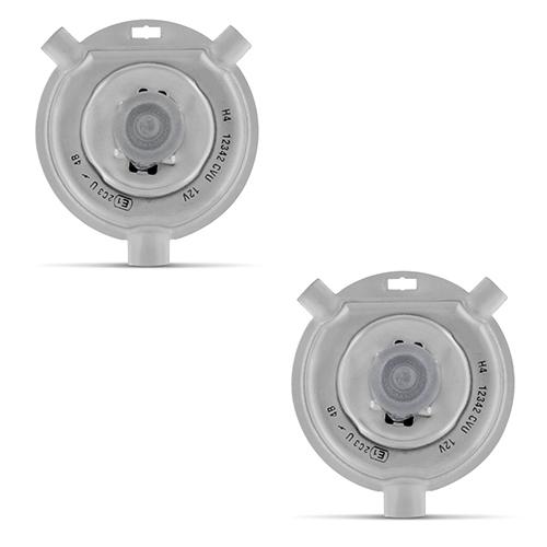 Par Lâmpada Xenon Reposição 12V 35W H4-2 6000K  - BEST SALE SHOP