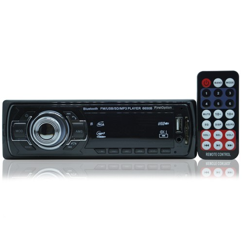 Rádio Mp3 Player Automotivo Bluetooth  First Option 6650B Fm Sd Usb Controle  - BEST SALE SHOP