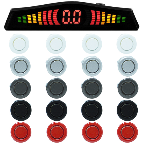 Sensor de Ré Estacionamento Universal 4 Pontos Display Led  - BEST SALE SHOP