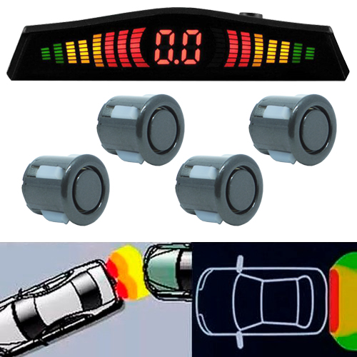 Sensor de Ré Estacionamento Universal 4 Pontos Display Led Tech One 18mm T1SE4PGF Grafite - BEST SALE SHOP