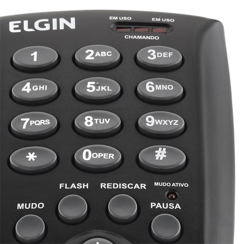 Telefone Headset com Base Discadora Teclado Elgin HST 6000 Telemarketing Preto  - BEST SALE SHOP