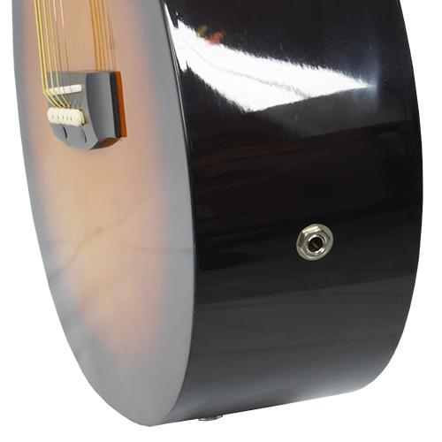 Violão Clássico Elétrico Acústico Semi Profissional Corda Aço Suzuki SSG-6CE SB Cor Sunburst  - BEST SALE SHOP