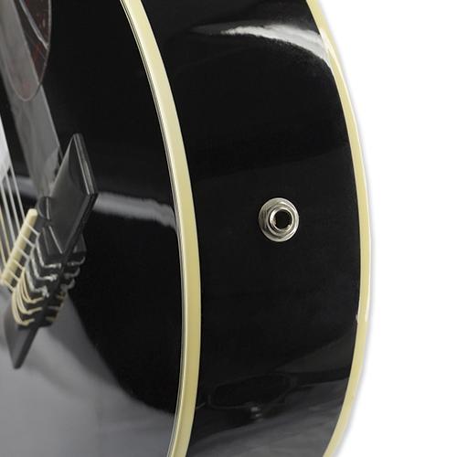 Violão Eletroacústico Nylon Slim Di Giorgio Havana Black BK Preto  - BEST SALE SHOP