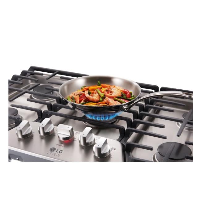 Cooktop a gás LG Studio 5 bocas 92 cm LSCG367ST LG