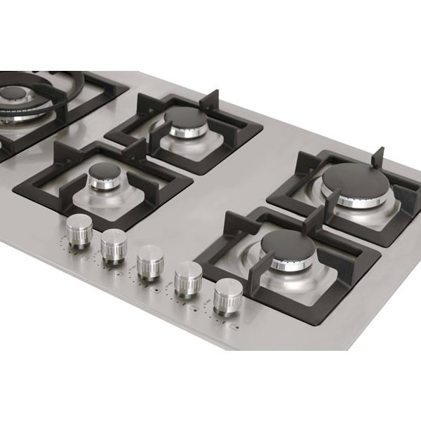 Cooktop a Gás Quadratto 90cm CKG-5Q-90-XQ-3ZEA Elettromec