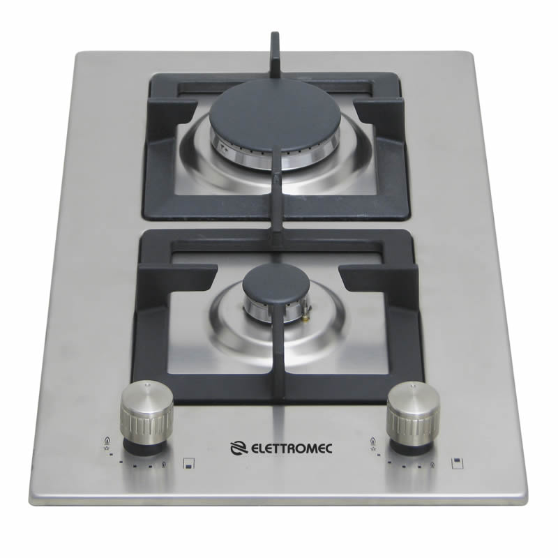 Dominó a Gás Quadratto 2 Queimadores 30cm D301-Z2XQ Elettromec