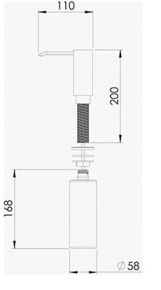 Dosador Detergente Grande 20.04.00121 Debacco