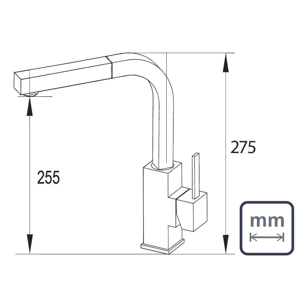 Misturador Unique 94520/016 Tramontina Design Collection