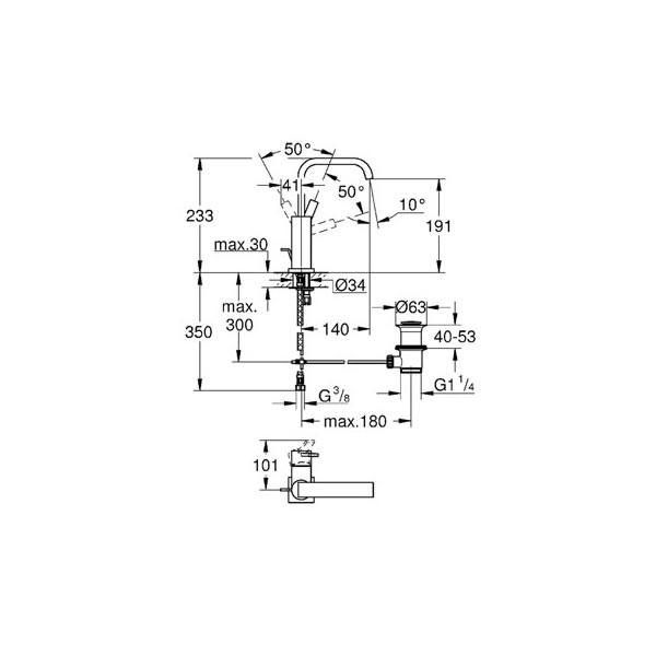 Monocomando de Lavatório - 32146000 - Grohe