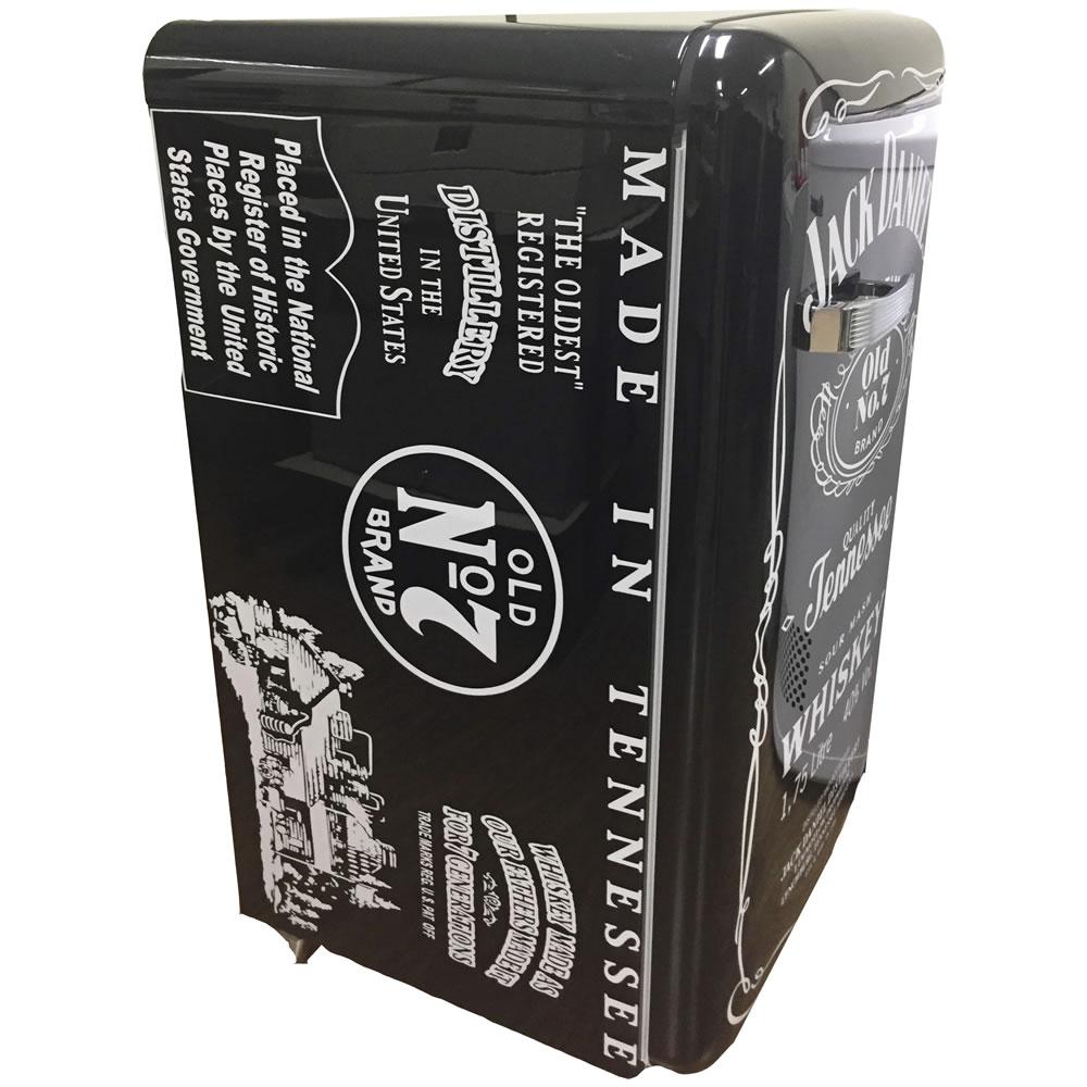 Refrigerador Mini Retro Customizado Jack Daniel's Preto CrissAir