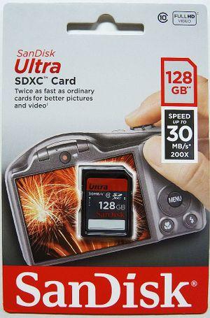Cartão de Memória SDXC Sandisk 128GB Ultra Classe 10
