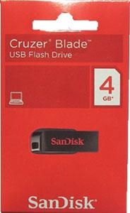 Pen Drive Sandisk Cruzer Blade 4GB