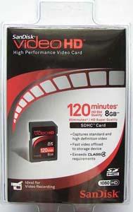 Memory Stick Pro Duo Videohd com Magic Gate 8GB Sandisk