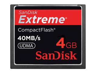 Cartão de Memória Compact Flash CF 4GB Sandisk Extreme