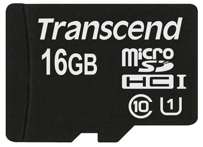 Cartão de Memória Transcend MicroSDHC 16GB Classe 10 UHS-1 Premium