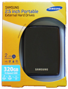 Hd Externo de Bolso 320GB - Super Slim Samsung S2