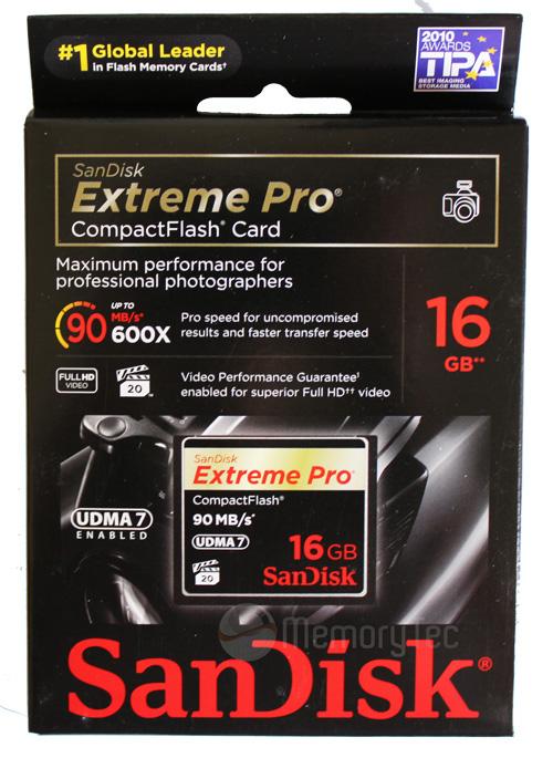 Cartão de Memória Compact Flash CF 16GB Sandisk Extreme Pro 600x