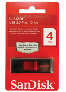 Pen drive SanDisk 4GB Cruzer
