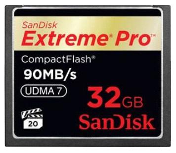 Cartão de Memória Compact Flash CF 32GB Sandisk Extreme Pro 600x