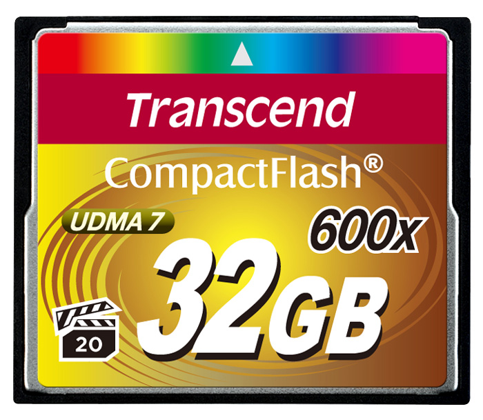 Cartao Memoria CompactFlash CF 32GB Transcend Ultimate 600x