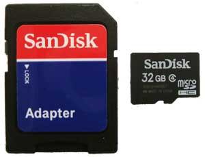 Cartão de Memória Micro Sdhc 32GB Sandisk adapt sem emb
